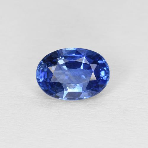 Blue Sapphire Gem - 0.7ct Oval Facet (ID: 504649)