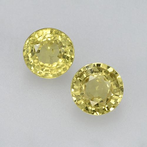 Yellow Sapphire Gem - 0.5ct Round Facet (ID: 504984)
