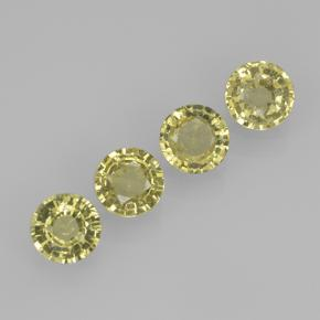 Yellow Sapphire Gem - 0.4ct Round Facet (ID: 505091)