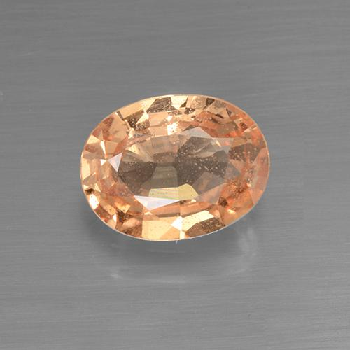 1.3ct Oval Facet Orange Sapphire Gem (ID: 505238)