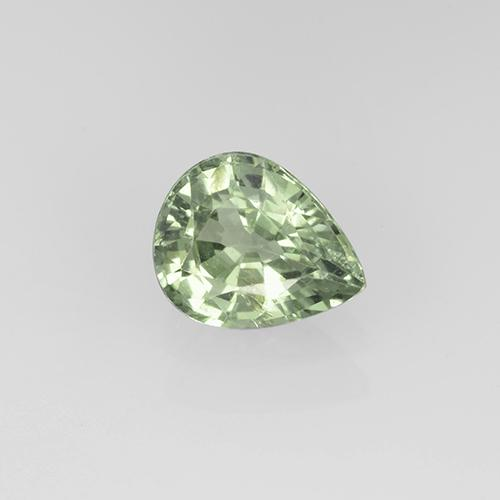Light Forest Green Zafiro Gema - 0.8ct Corte en forma de pera (ID: 505301)