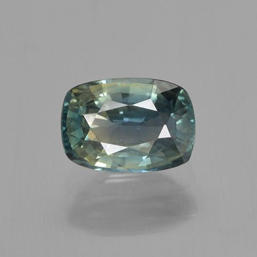 1ct Cushion-Cut Multi Green Sapphire Gem (ID: 505463)