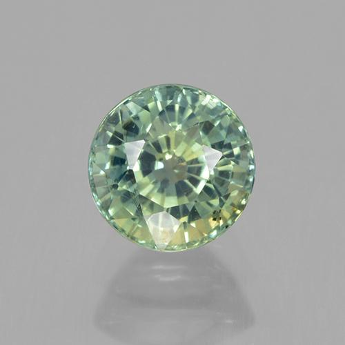 1.1ct Round Facet Yellowish Green Sapphire Gem (ID: 505466)