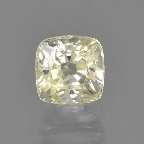 Light Yellow Sapphire Gem - 1ct Cushion-Cut (ID: 505468)