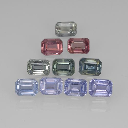 Multicolor Sapphire Gem - 0.3ct Octagon Step Cut (ID: 505611)