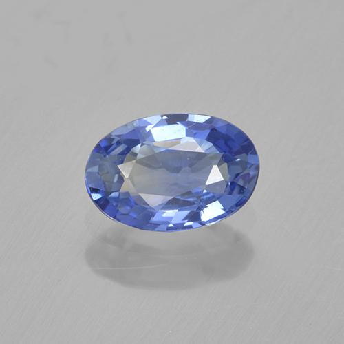 0.6ct Oval Facet Baby Blue Sapphire Gem (ID: 505748)