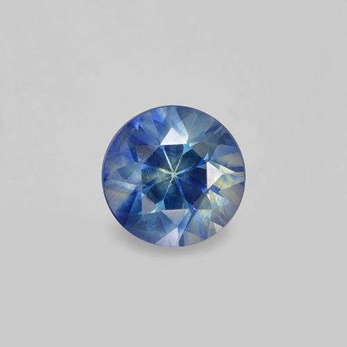 Greenish Blue Sapphire Gem - 0.4ct Diamond-Cut (ID: 505803)