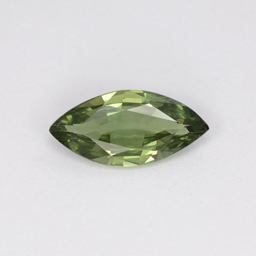 Green Sapphire Gem - 1.3ct Marquise Facet (ID: 508535)