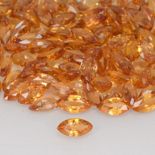 Orange Sapphire Gem - 0.2ct Marquise Facet (ID: 508821)
