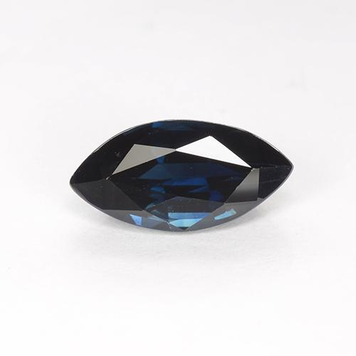 Blackish Blue Sapphire Gem - 1.5ct Marquise Facet (ID: 509727)