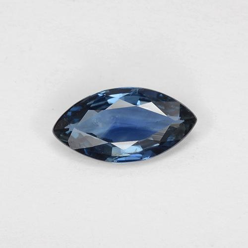 Navy Blue Sapphire Gem - 0.8ct Marquise Facet (ID: 509775)