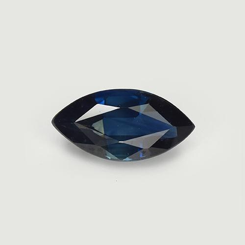 Night Blue Sapphire Gem - 1ct Marquise Facet (ID: 509947)