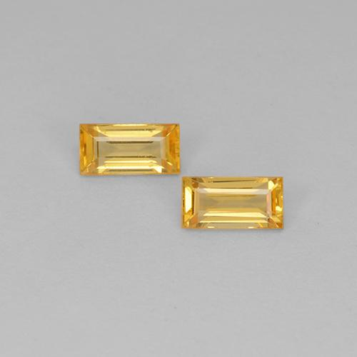 Medium Golden Sapphire Gem - 0.3ct Baguette Step Cut (ID: 510602)