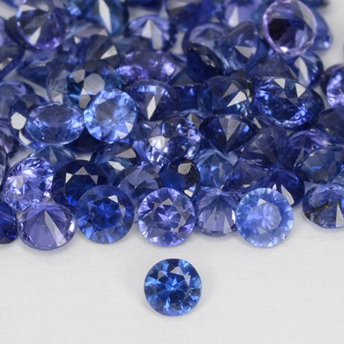Blue Sapphire Gem - 0.1ct Diamond-Cut (ID: 510886)