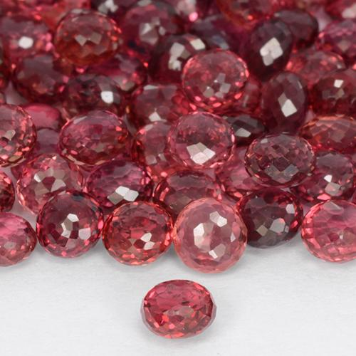 Medium Red Zaffiro Gem - 0.3ct Round Mixed-Cut (ID: 511306)