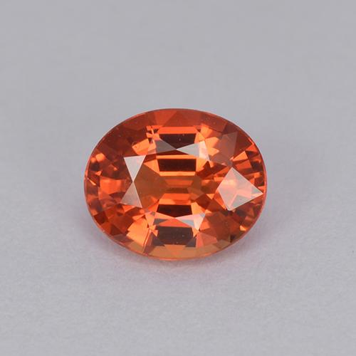 0.9ct Oval Facet Medium Red Sapphire Gem (ID: 511942)