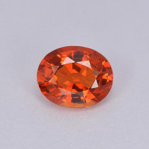 Orange Sapphire Gem - 0.9ct Oval Facet (ID: 511943)