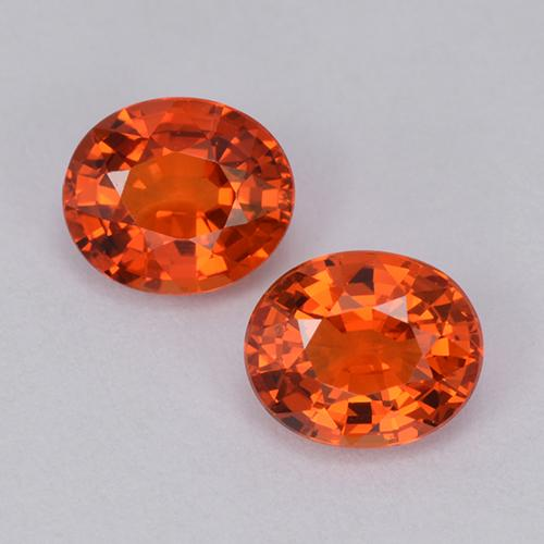 Orange Sapphire Gem - 0.9ct Oval Facet (ID: 511950)