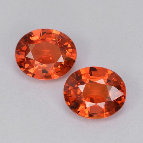 Intense Red Sapphire Gem - 0.9ct Oval Facet (ID: 511951)