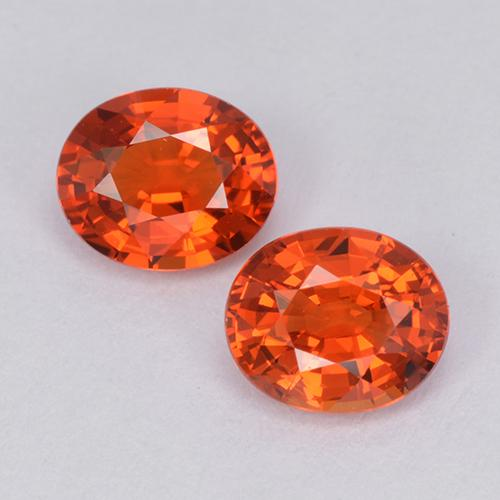 Orange Sapphire Gem - 0.9ct Oval Facet (ID: 511953)