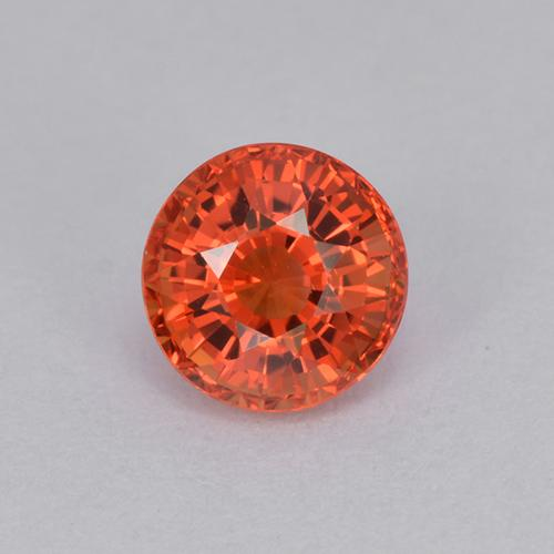 Red Orange Sapphire Gem - 1ct Round Facet (ID: 511955)