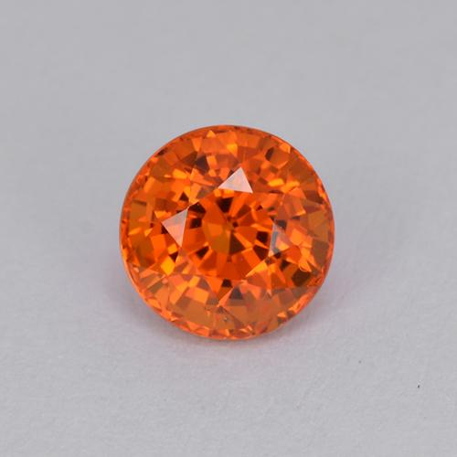 Medium Orange Zafiro Gema - 1.1ct Faceta Redonda (ID: 511960)