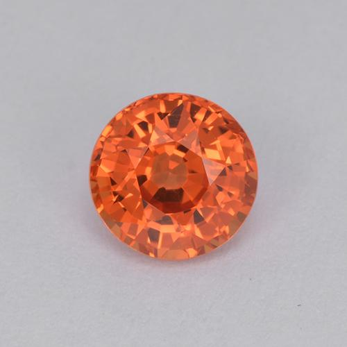 Reddish Orange Sapphire Gem - 1.1ct Round Facet (ID: 511962)