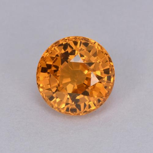Orange Sapphire Gem - 1.1ct Round Facet (ID: 511969)