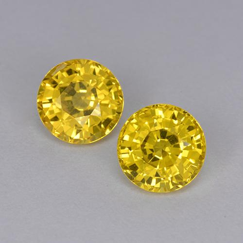 Yellow Sapphire Gem - 1.1ct Round Facet (ID: 511975)