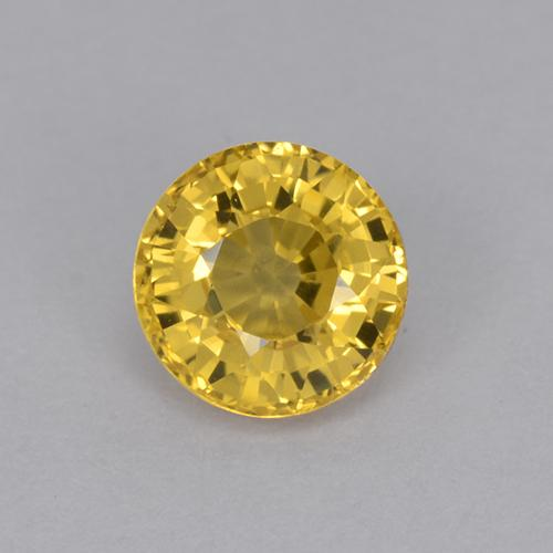 Yellow Sapphire Gem - 1ct Round Facet (ID: 511977)