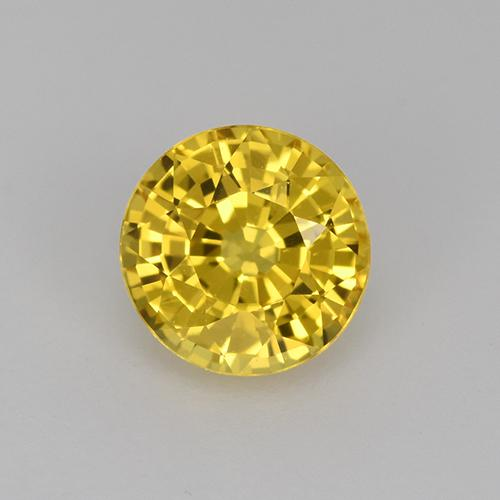 Yellow Sapphire Gem - 1ct Round Facet (ID: 512039)