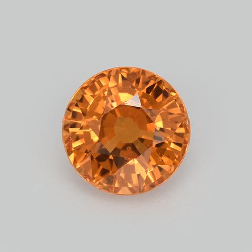 Tiger Orange Zafiro Gema - 1ct Faceta Redonda (ID: 512123)