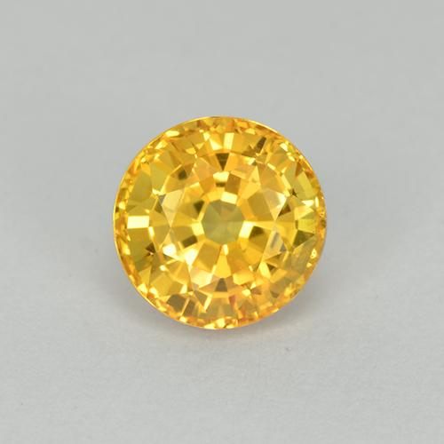 Yellow Golden Sapphire Gem - 1.1ct Round Facet (ID: 512129)