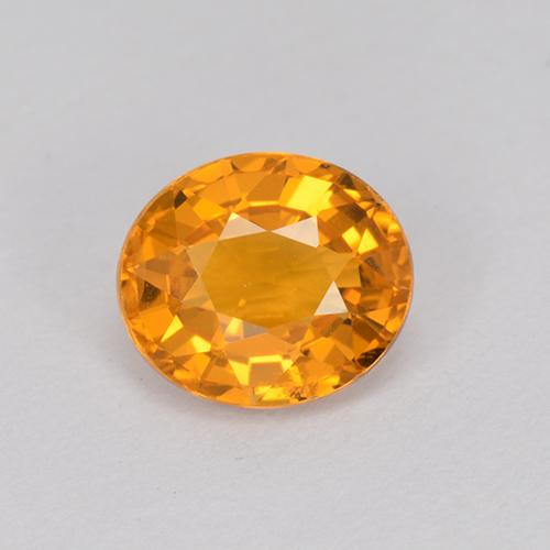 Gold Sapphire Gem - 1ct Oval Facet (ID: 512139)