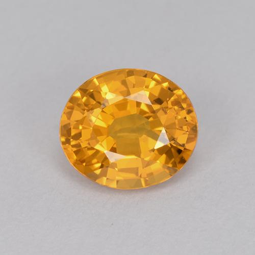 Yellow Golden Sapphire Gem - 1ct Oval Facet (ID: 512143)