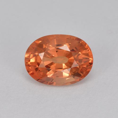Orange Sapphire Gem - 1ct Oval Facet (ID: 512146)