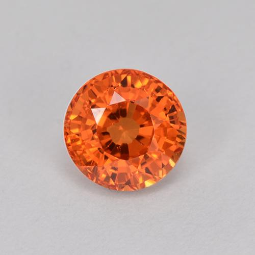 Orange Sapphire Gem - 1ct Round Facet (ID: 512148)