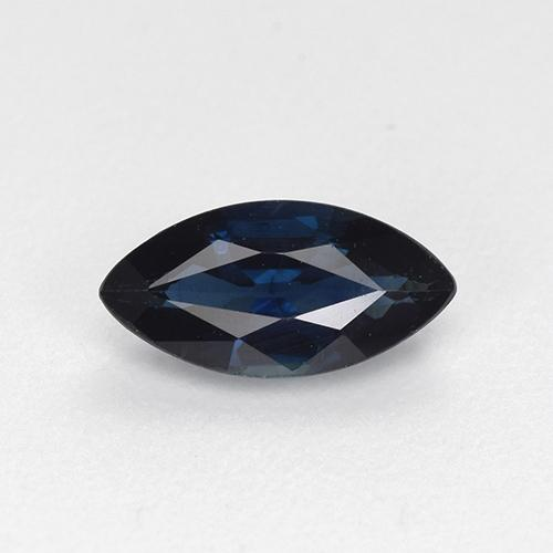 Navy Blue Saphir gemme - 0.8ct Marquise facette (ID: 512318)