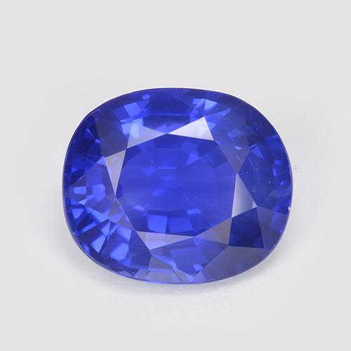 Blue Sapphire Gem - 3.2ct Oval Facet (ID: 512883)