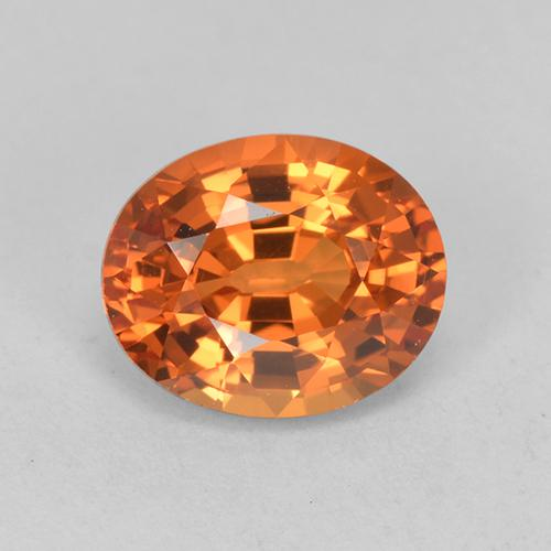 Fire Orange Sapphire Gem - 1.1ct Oval Facet (ID: 513243)