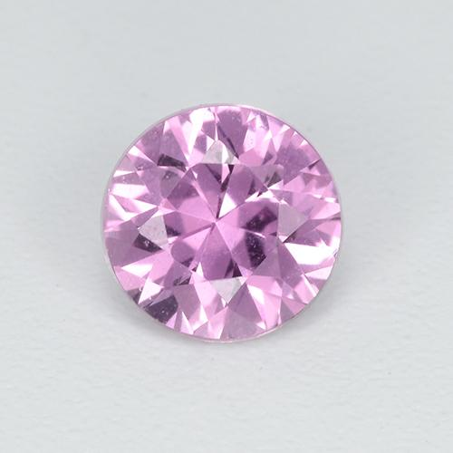 Purple Pink Sapphire Gem - 0.6ct Diamond-Cut (ID: 513475)