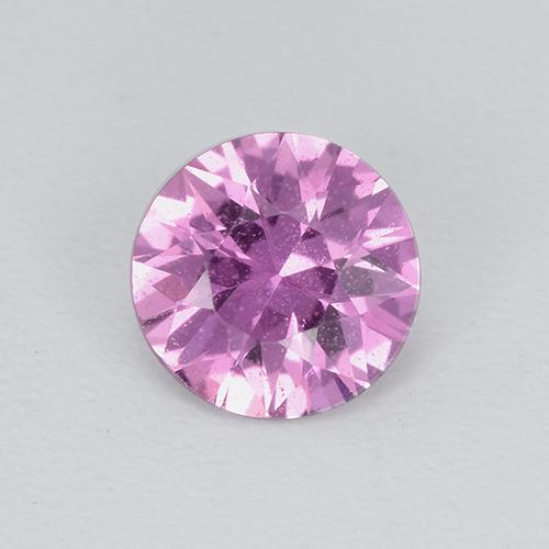 Light Royal Purple Pink Zafiro Gema - 0.5ct Corte Diamante (ID: 513477)