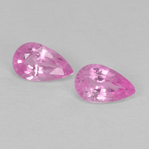 Pink Sapphire Gem - 0.3ct Pear Facet (ID: 513478)