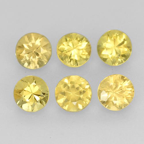 Yellow Sapphire Gem - 0.1ct Diamond-Cut (ID: 513986)