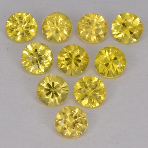 Medium Yellow Zafiro Gema - 0.1ct Corte Diamante (ID: 514008)