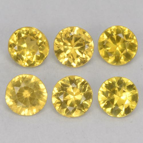 Yellow Sapphire Gem - 0.1ct Diamond-Cut (ID: 514027)