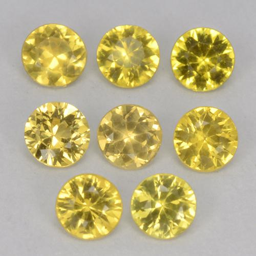 Yellow Sapphire Gem - 0.1ct Diamond-Cut (ID: 514028)