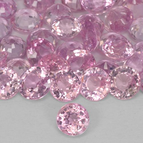 Very Light Pink Zafiro Gema - 0.3ct Faceta Redonda (ID: 514064)