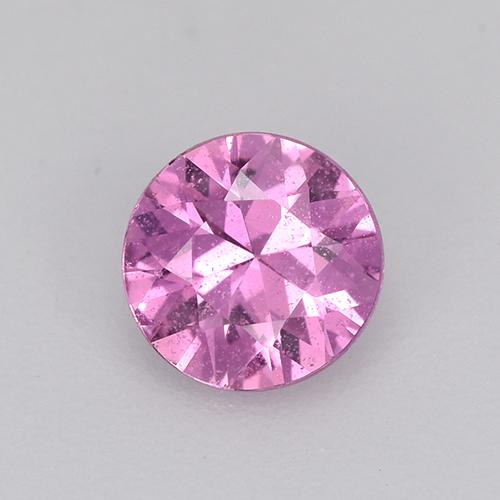 Bright Pinkish Purple Sapphire Gem - 0.6ct Diamond-Cut (ID: 514419)