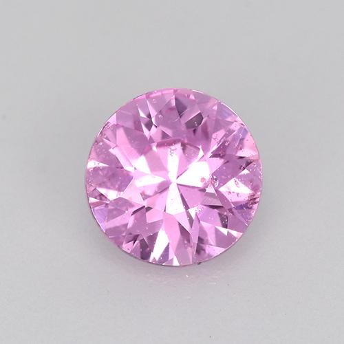 Bright Pinkish Purple Sapphire Gem - 0.6ct Diamond-Cut (ID: 514421)